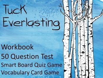 Tuck Everlasting Novel Study Bundle: Worksheets, Quizzes,Test, Games, Vocabulary
