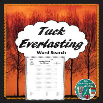 Tuck Everlasting Word Search