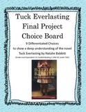 Tuck Everlasting: 9 Differentiated Final Projects