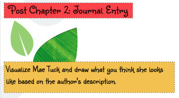 Tuck Everlasting: ActivBoard Novel Study and Journal Activities
