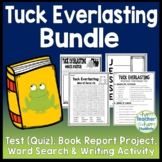 Tuck Everlasting Bundle: Test/Quiz, Book Project, Writing Activity & Word Search