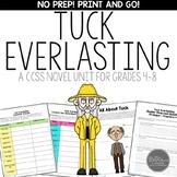 Tuck Everlasting Novel Study Unit for Middle School Common Core Aligned
