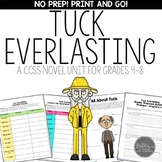 Tuck Everlasting Novel Study Unit for Middle School Common Core Aligned