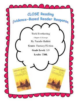 Tuck Everlasting Chapter 12  Excerpt CLOSE Reading Questions