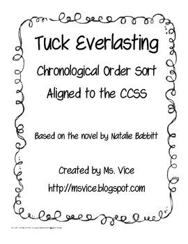 Tuck Everlasting Chronological Order Sort