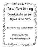 Tuck Everlasting Chronological Order Sort