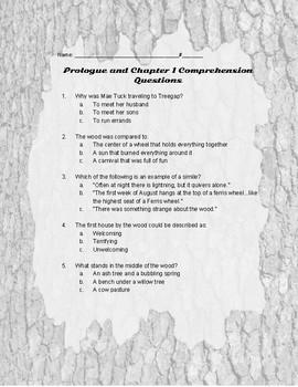 Tuck Everlasting Comprehension/Figurative Language Questions