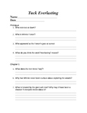 Tuck Everlasting Comprehension Questions