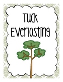 Tuck Everlasting Comprehension Questions, Booklet