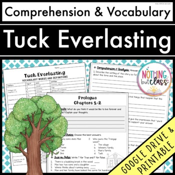 Tuck Everlasting Comprehension and Vocabulary by chapter
