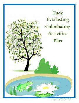Tuck Everlasting---Culminating Activities Plus