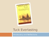 Tuck Everlasting Daily Vocabulary and Reflection Questions