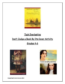 Tuck Everlasting-Don't Judge a Book By Its Cover Instructions