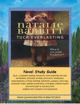 Tuck Everlasting ELA Reading Novel Study Guide Complete!