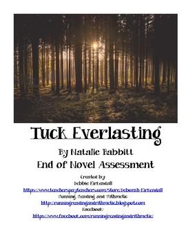 Tuck Everlasting End of Novel Assessment