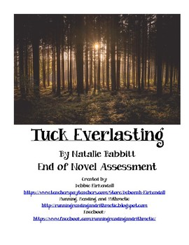 Tuck Everlasting End of Novel Assessment