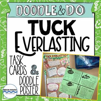 Tuck Everlasting End of the Book Project Doodle Poster and Task Cards