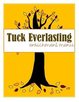 Tuck Everlasting Enrichment Menu