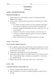 Novel Study - Tuck Everlasting Projects, Rubrics, Reflecti