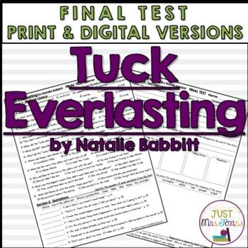 Tuck Everlasting Final Test