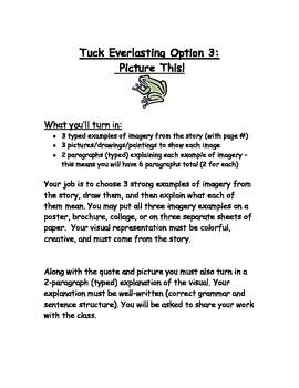 Tuck Everlasting Final Writing Assesment Options