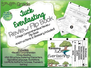 Tuck Everlasting-Reviewing Characters, Plot, Conflicts-{Fl