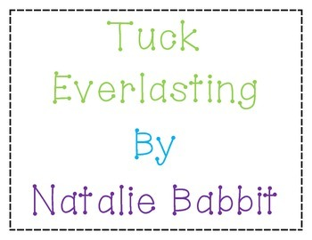 Tuck Everlasting Interactive Bulletin Board