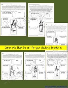 TUCK EVERLASTING: INTERACTIVE NOTEBOOK CHARACTER PAGES