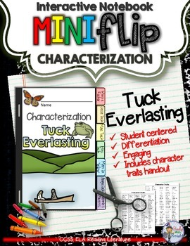 TUCK EVERLASTING CHARACTERIZATION FLIP BOOK