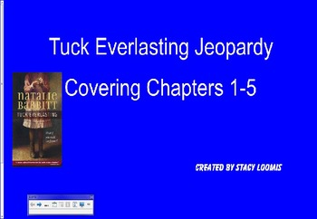 Tuck Everlasting Jeopardy Chapters 1-5