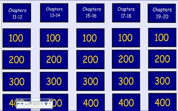 Tuck Everlasting Jeopardy Chapters 11-20