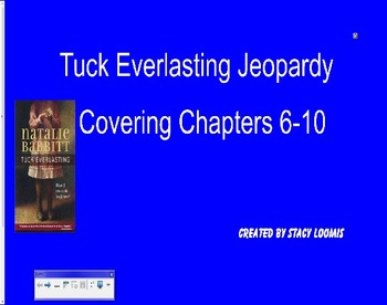 Tuck Everlasting Jeopardy Chapters 6-10