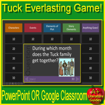Tuck Everlasting Review Game