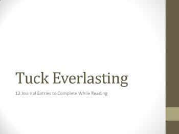 Tuck Everlasting Journal Entries