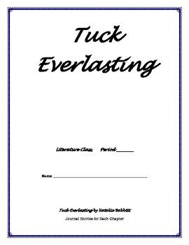 Tuck Everlasting - Journal Template