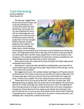 Tuck Everlasting - Literary Text Test Prep