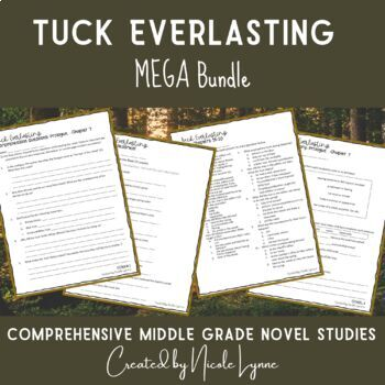 Tuck Everlasting MEGA Bundle (Student Packet and Assessment Bundle)