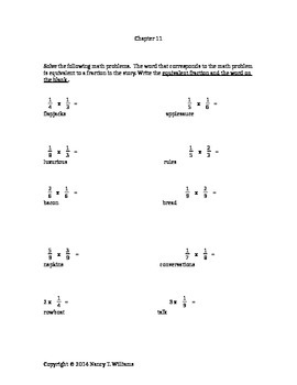 Tuck Everlasting Math Connection CHAPTER 11