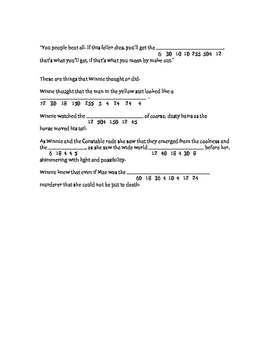 Tuck Everlasting Math Connection chp 20