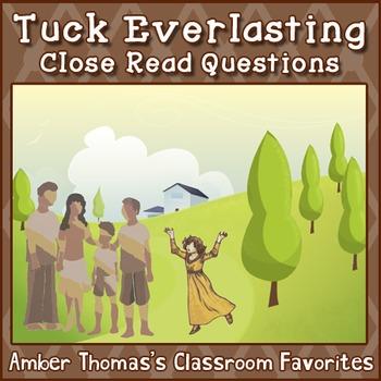 Tuck Everlasting Model Unit Close Read Questions {FREE}