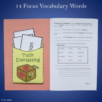 Tuck Everlasting Novel Study: vocabulary, comprehension, writing, skills