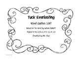 Tuck Everlasting Novel Quote Sort