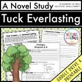 Tuck Everlasting Novel Study Unit: comprehension, vocabulary, activities, tests