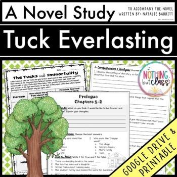 Tuck Everlasting Novel Study Unit: comprehension, vocabula