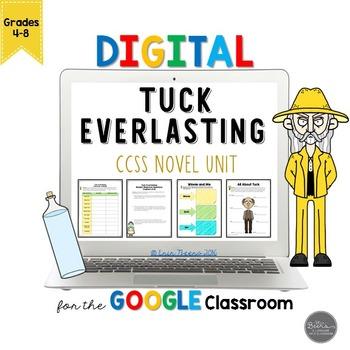 Tuck Everlasting Novel Unit for Google Slides Common Core Aligned