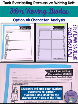 Tuck Everlasting Persuasive Writing Unit