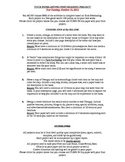 Tuck Everlasting Project and Rubric
