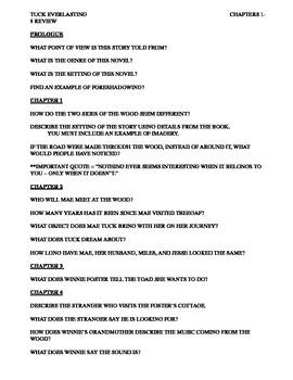 Tuck Everlasting Quiz 1-8
