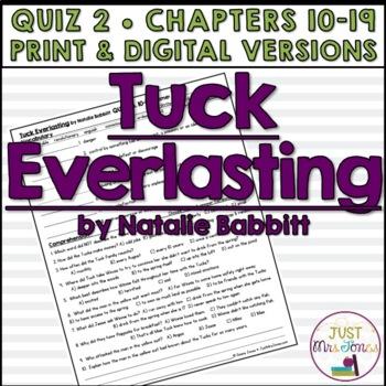 Tuck Everlasting Quiz 2 (Ch. 10-19)