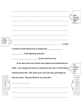 tuck everlasting response to literature essay frame by nancy jolycause tuck everlasting response to literature essay frame